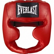 Шлем бокс Everlast Martial Arts Leather Full Face S/M красн 7620SMU